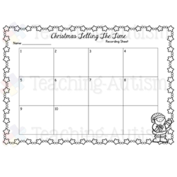 Telling Time Task Cards - Christmas