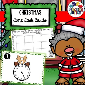 Telling Time Task Cards Christmas