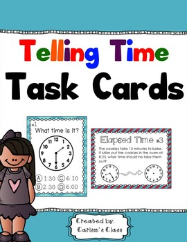 Telling Time Task Cards (Every 5 Minutes)