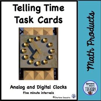 Telling Time Task Cards - Five Minute Intervals