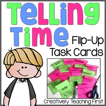 Telling Time Task Cards {Flip-Up}