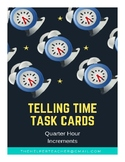 Telling Time Task Cards Freebie - Quarter Hour
