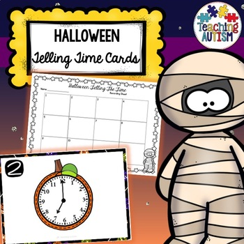 Telling Time Task Cards - Halloween