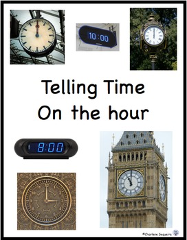 Telling Time Task Cards - Hour and Half Hour
