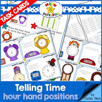 Telling Time Task Cards - Level 1