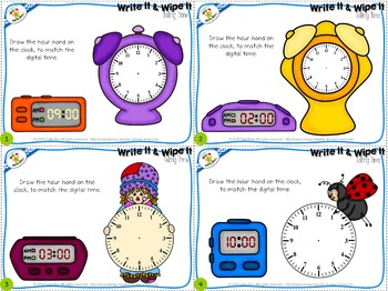 Telling Time Task Cards - Level 1- FREE SAMPLE