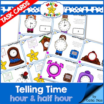 Telling Time Task Cards - Level 2