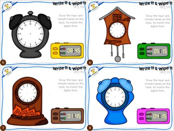 Telling Time Task Cards - Level 3