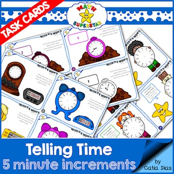 Telling Time Task Cards - Level 4