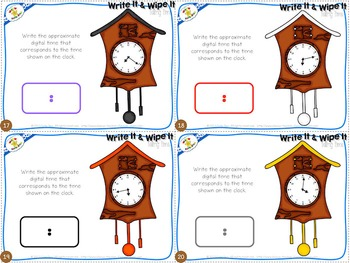 Telling Time Task Cards - Level 5