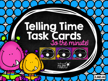 Telling Time Task Cards - Monsters