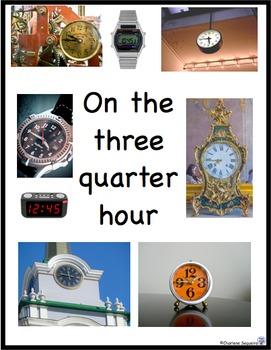 Telling Time Task Cards - Quarter Hour and Three Quarter Hour