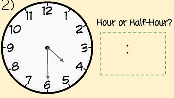 Telling Time Task Cards (To the Half-Hour)