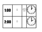 Telling Time Task Cards Whole Hour