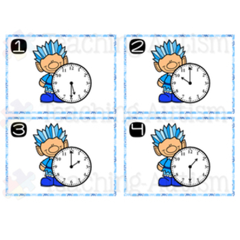 Telling Time Task Cards Winter