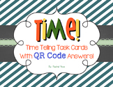 Telling Time Task Cards With QR Code Answers!