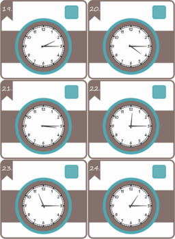 Telling Time Task Cards and Bang Classroom Game