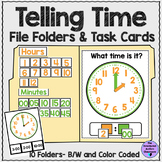 Telling Time Task Cards and File Folders for Autism and Sp