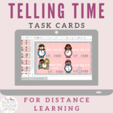 Telling Time Task Cards for Distance Learning