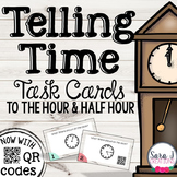 Telling Time Task Cards (Half hour and hour)