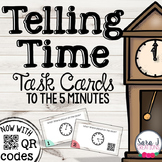 Telling Time Task Cards (to the 5 minutes)