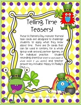 Telling Time Teasers!