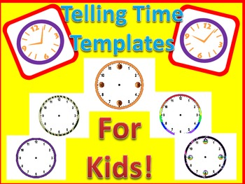 Telling Time Templates