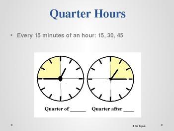 Telling Time Terminology