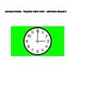 Telling Time Test - Google Form Assessment - Grade 4 Ontario