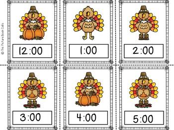 Telling Time-Thanksgiving