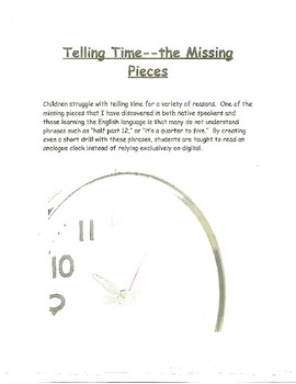Telling Time--The Missing Pieces