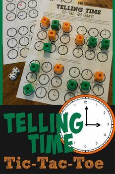 Telling Time Tic-Tac-Toe