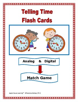 Telling Time: Time Flash Cards/Task Cards
