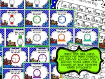 Telling Time with Differentiated Task Cards