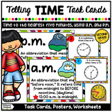 Telling Time To 5 Minutes (Task Cards)