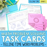 2nd Grade Telling Time Math Word Problem Task Cards | Prin