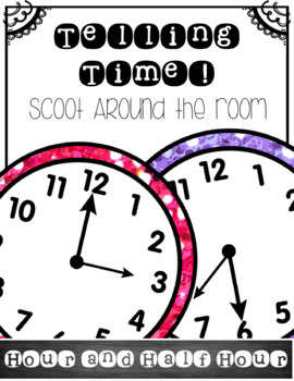 Telling Time: To the Hour and Half Hour-SCOOT! {Confetti and Creativity}