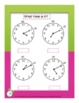Telling Time To the Nearest Ten Minutes- Student Practice Book D