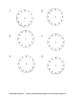 Telling Time To the Neastest 5 minutes Scoot