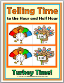 Telling Time to the Hour & Telling Time to the Half Hour -Fall Math- Autumn Math