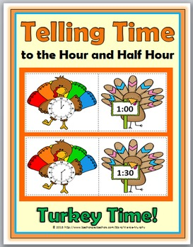 Telling Time to the Hour & Telling Time to the Half Hour -