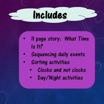 Telling Time Unit 1 for Special Education