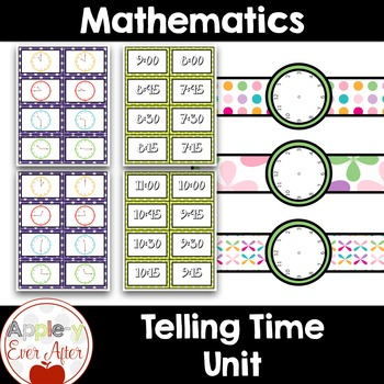 Telling Time Unit - Games, activities, worksheets and much more!