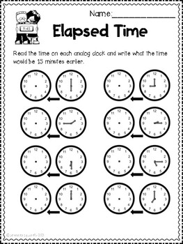 Telling Time Unit - Including Elapsed Times