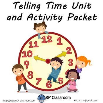 Telling Time Activity Packet Printable Worksheets