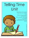 Telling Time Unit - Telling Time to the hour, half-hour an