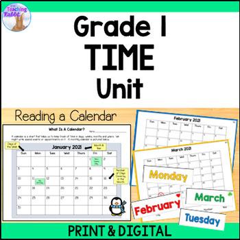 Telling Time Unit for Grade 1 (Ontario Curriculum)