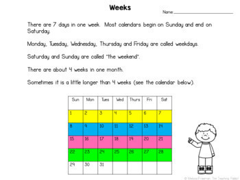 Telling Time Unit for Grade 1 (Ontario Curriculum)