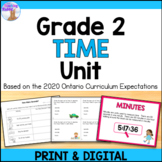 Telling Time Unit for Grade 2 (Ontario Curriculum)