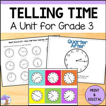Telling Time Unit for Grade 3 (Ontario Curriculum)
